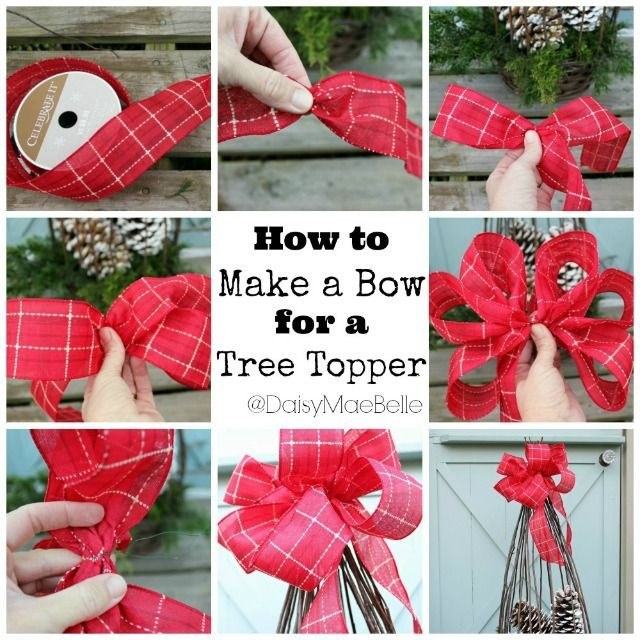 diy tree topper bow pictures photos and images for facebook tumblr pinterest and twitter. Black Bedroom Furniture Sets. Home Design Ideas