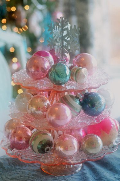 Pretty Pastel Christmas Ornaments Pictures Photos And