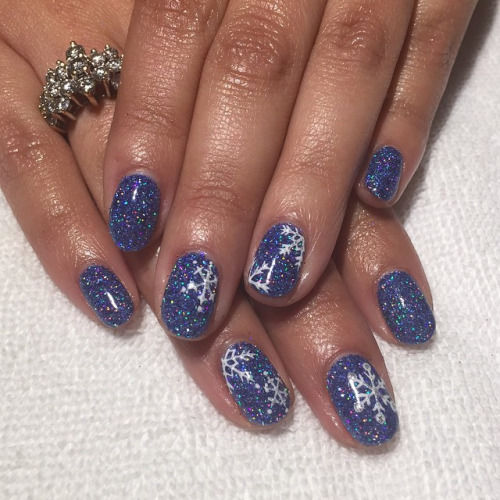 blue sparkly nails pictures photos and images for