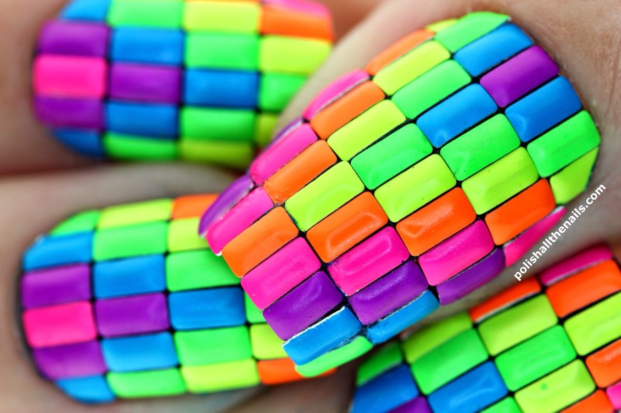 Neon Color Block Nails Pictures, Photos, and Images for Facebook ...