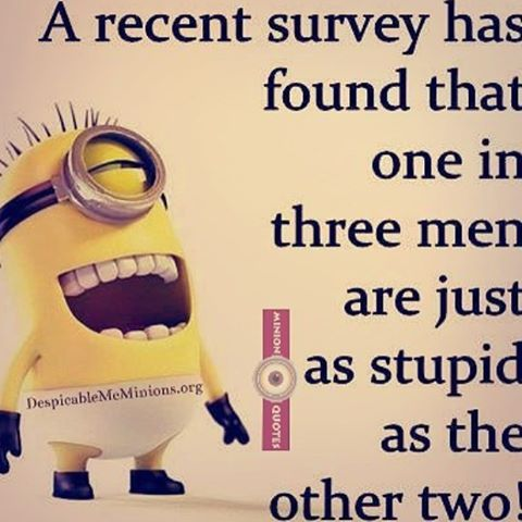 One In Three Men Are Just As Stupid As The Other Two
