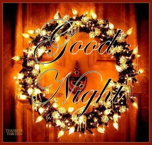 Christmas Wreath Good Night Quote Pictures, Photos, And