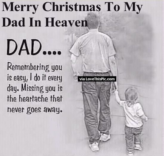 merry christmas to my dad in heaven - Merry Christmas Dad