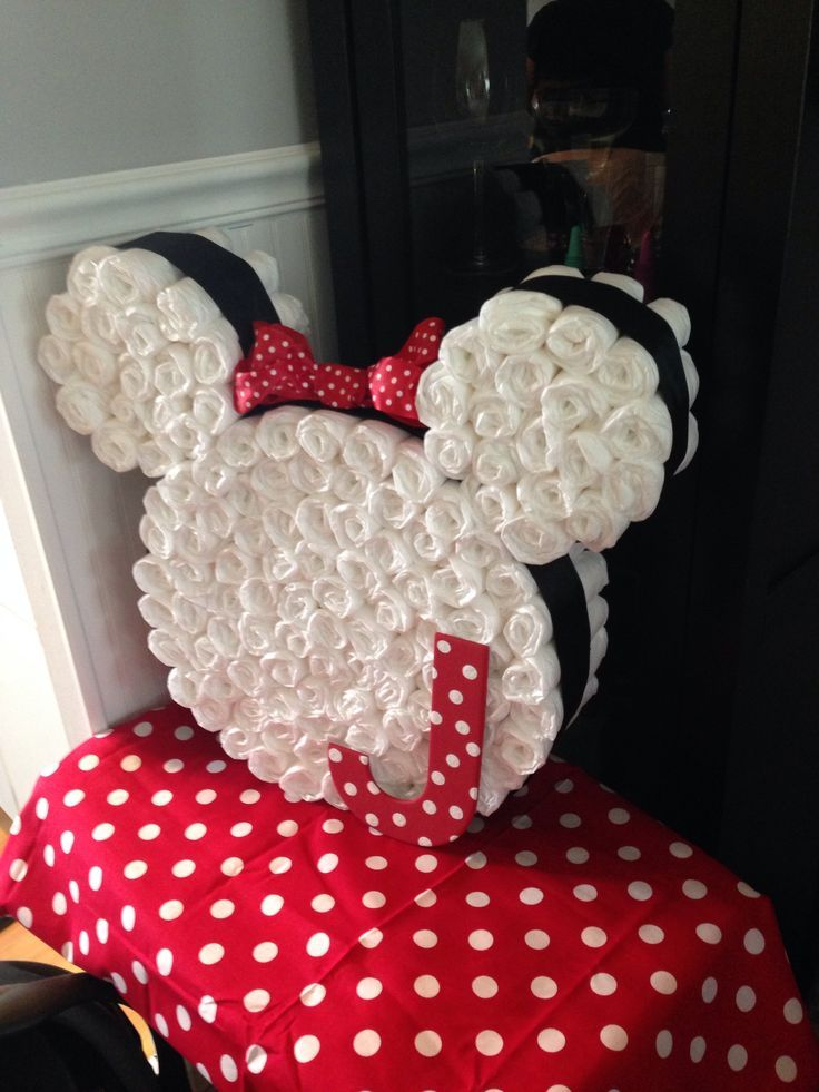Pictures Of Minnie Mouse Diaper Cakes