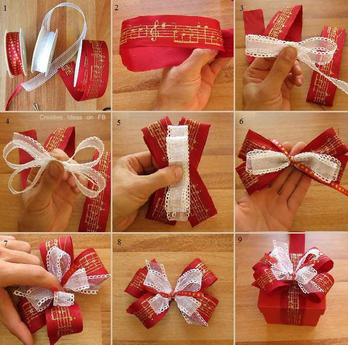 How To Wrap A Beautiful Christmas Bow Step By Step
