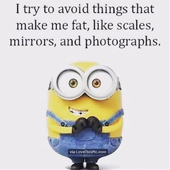 I Try To Avoid Things That Make Me Fat Funny Minion Quote Pictures