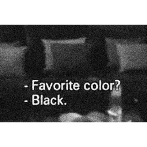 Favorite color black