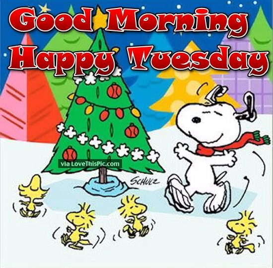 Good Morning Snoopy Quotes : Good morning happy tuesday snoopy christmas quote pictures