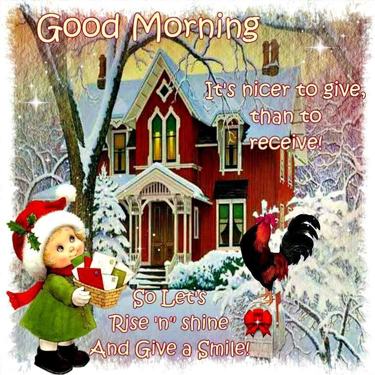 Christmas Good Morning Quotes: Good Morning Give A Smile Pictures, Photos, And Images For
