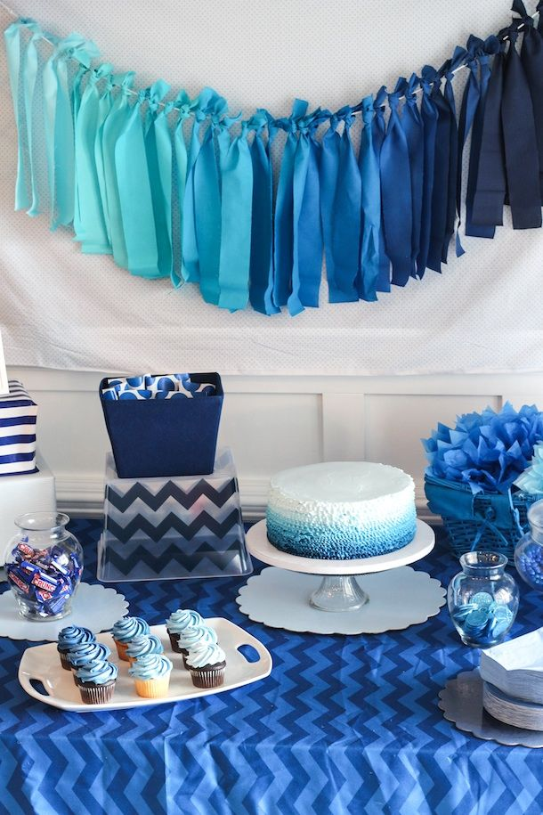 Blue Ombre Birthday Party Display Pictures Photos And