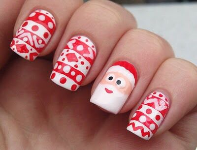 Santa Nail Art Pictures Photos And Images For Facebook Tumblr