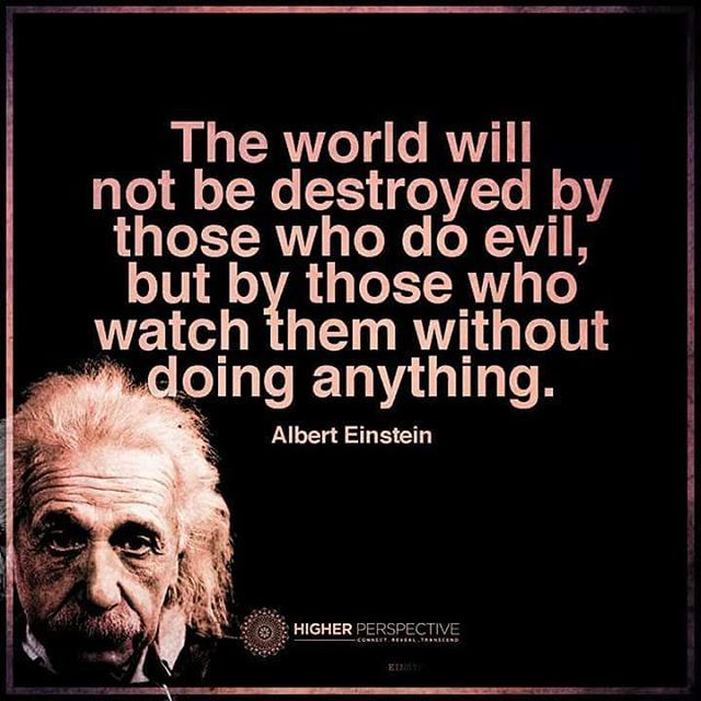 the world will not be destroyed by those who do evil but