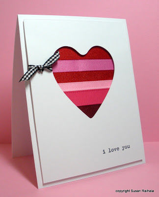 Ribbon Heart Valentines Day Love Card