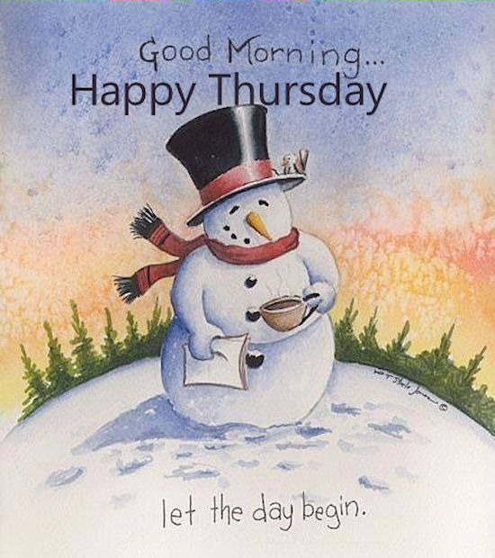 Winter Good Morning Happy Thursday Quote Pictures Photos