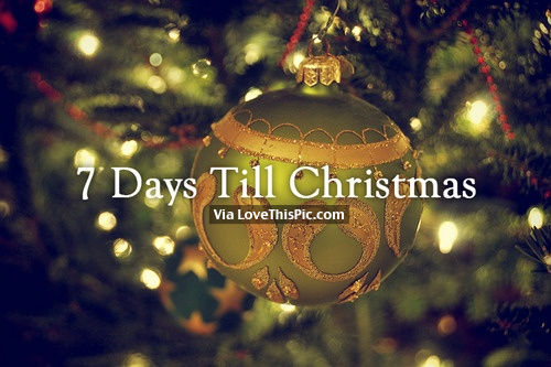 7 Days Till Christmas Pictures, Photos, and Images for Facebook ...