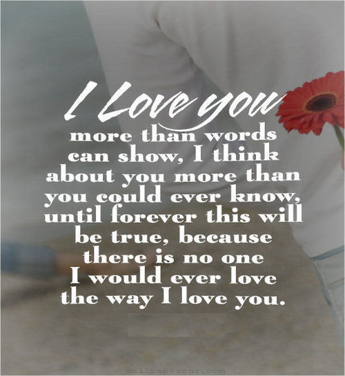 I Love You More Than Quotes: I Love You More Than Words Can Show Pictures, Photos, And