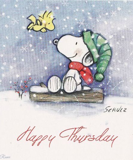 Thursday Winter Snoopy Quote Pictures, Photos, and Images