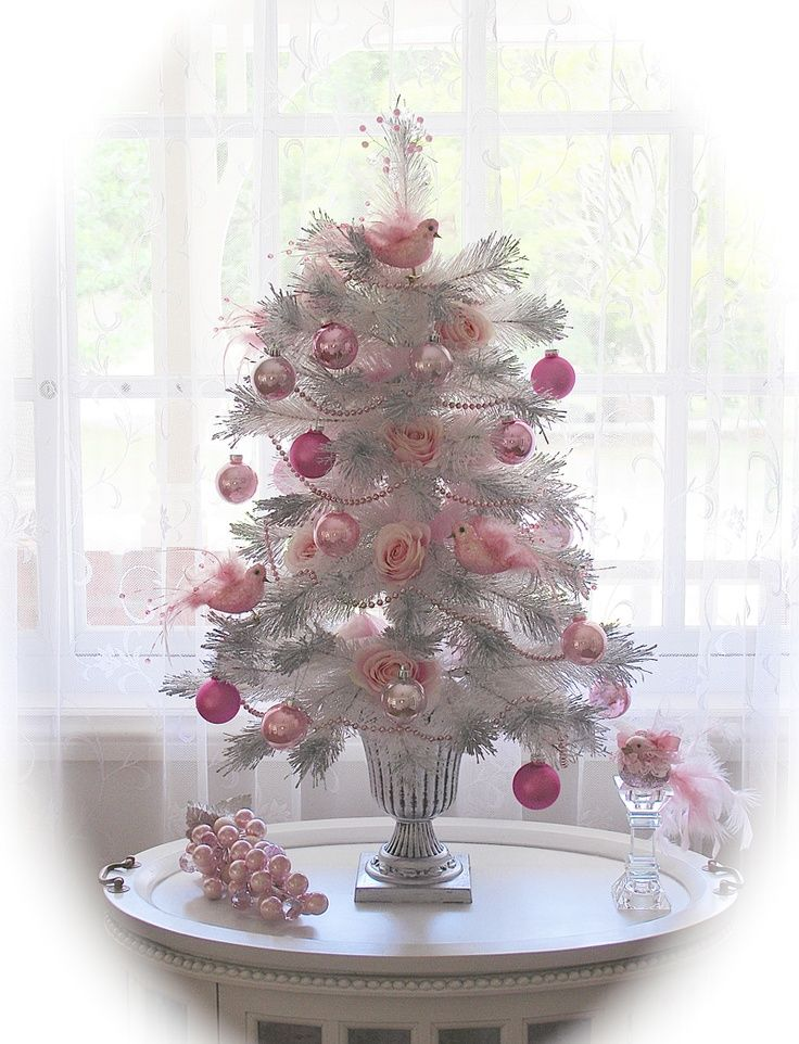 Pink Tabletop Christmas Tree