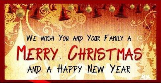 we wish you and your family a merry christmas