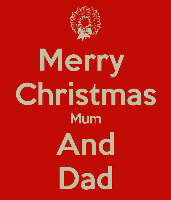 merry christmas mom and dad images