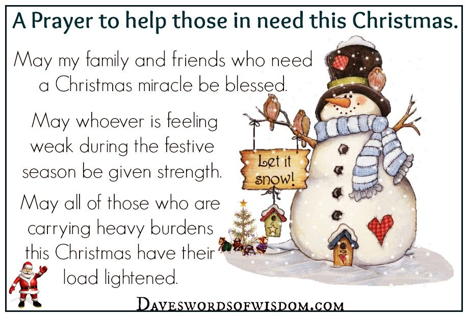 a prayer to those in need this christmas