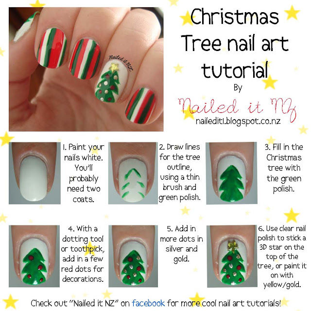 christmas tree nail art pictures photos and images for