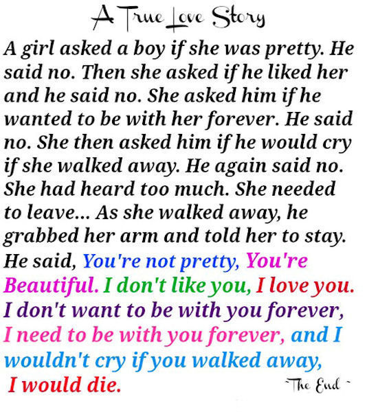 Love Story Quotes A True Love Story Quote Pictures, Photos, and Images for Facebook  Love Story Quotes