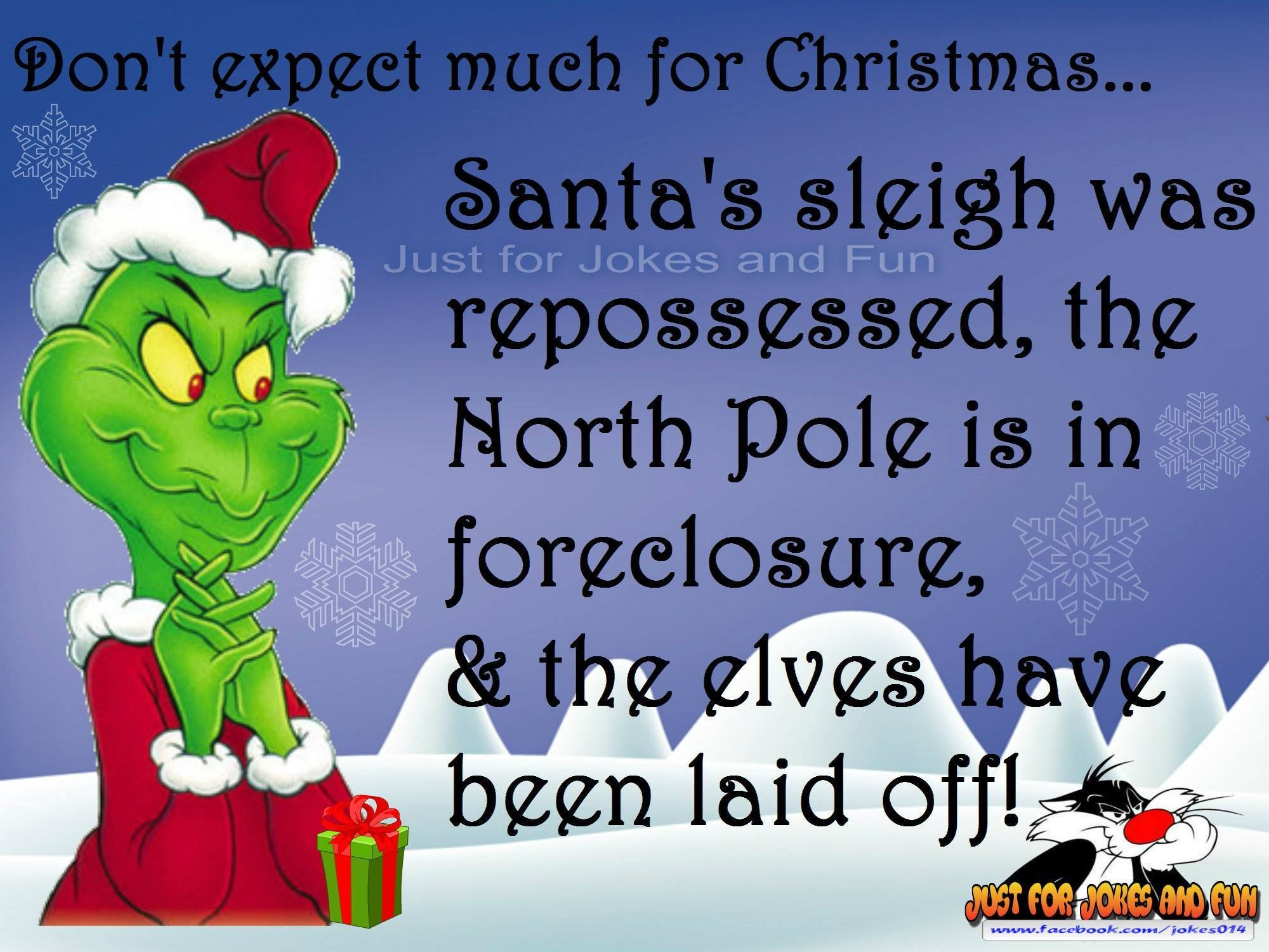 funny christmas quote with the grinch