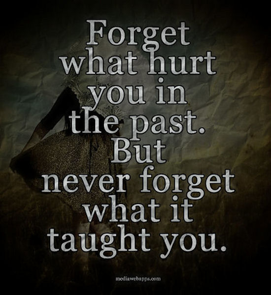 Forget The Past Quotes: Forget What Hurt You In The Past But Never Forget What It
