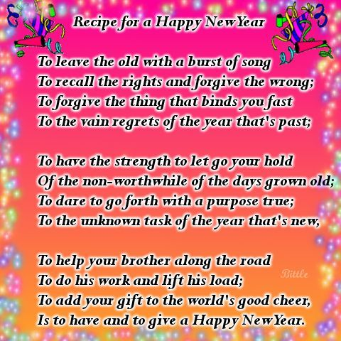 recipe for a happy new year pictures photos and images for facebook tumblr pinterest and twitter