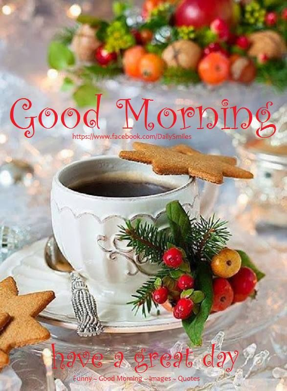 Christmas Good Morning Quotes: Christmas Good Morning Have A Great Day Quote Pictures