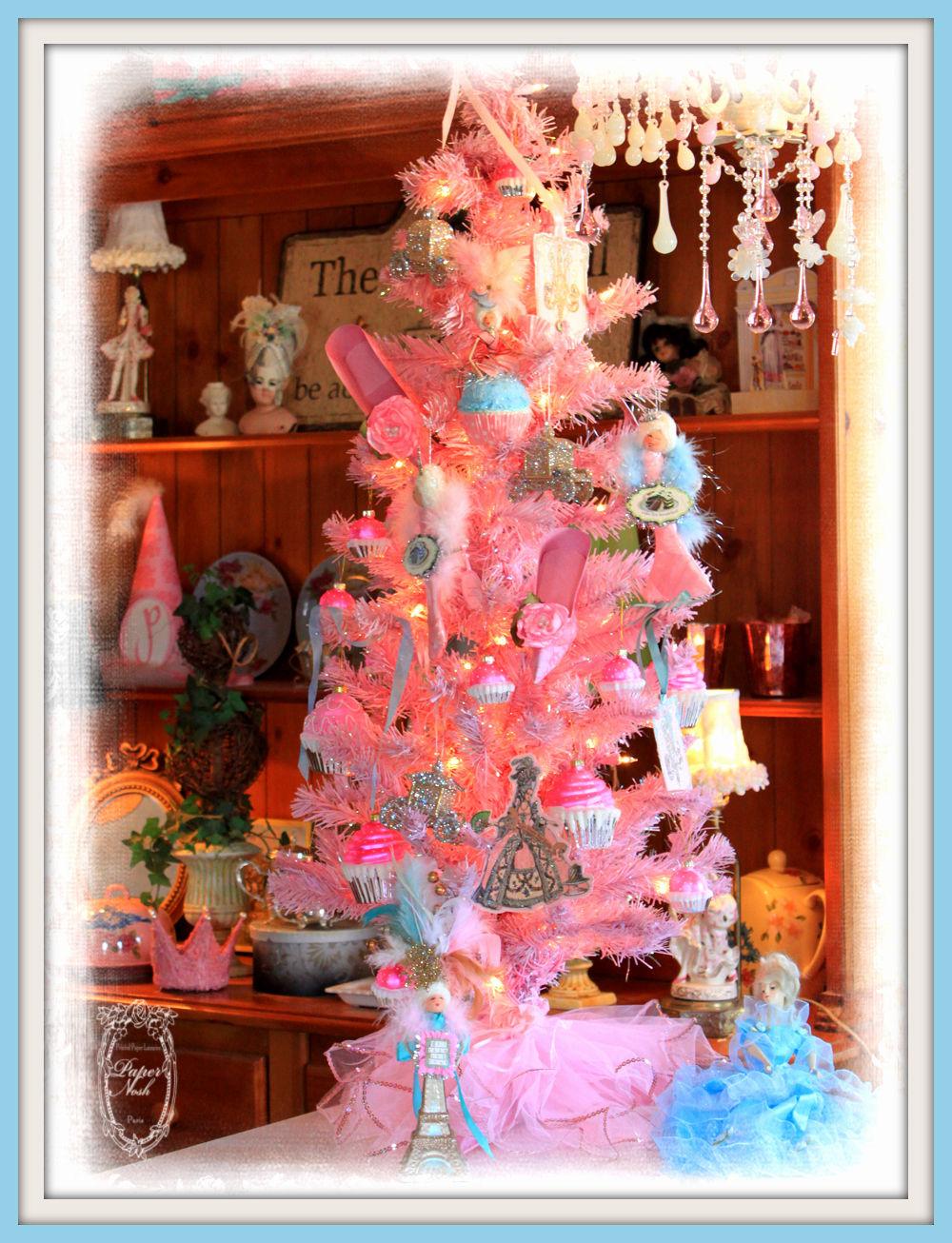 pink retro christmas tree - Retro Christmas Trees