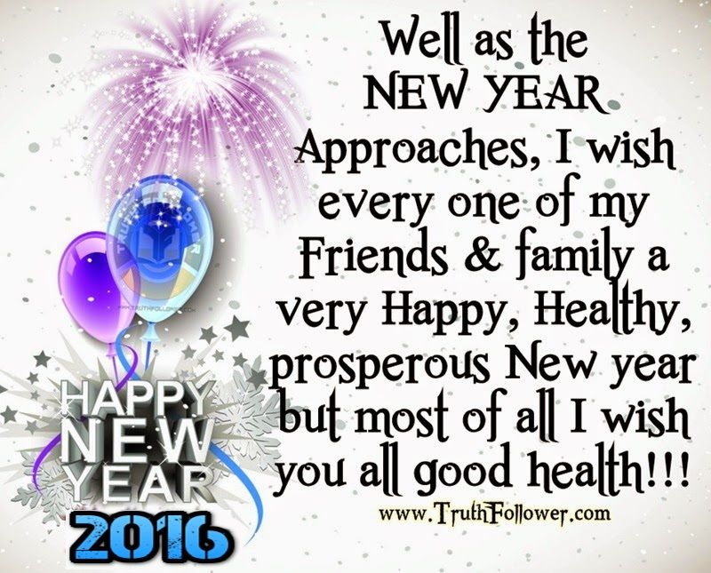 wishing my friends and family a happy new year in advance
