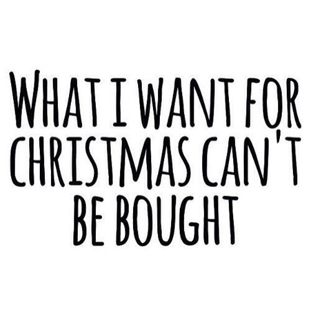 what i want for christmas cant be bought