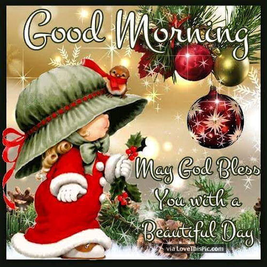 Christmas Good Morning Quotes: Good Morning May God Bless You Christmas Quote Pictures