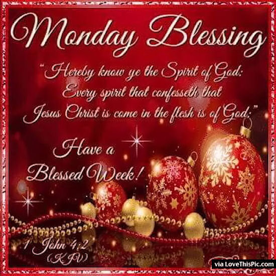 Christmas Monday Blessings