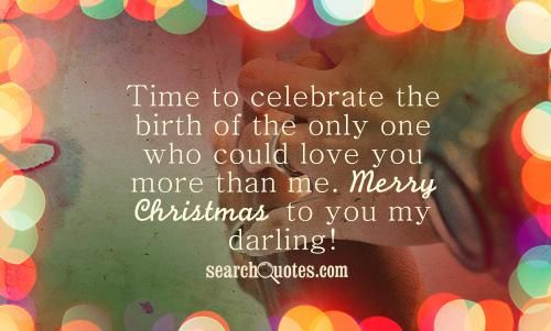 merry christmas to you my darling