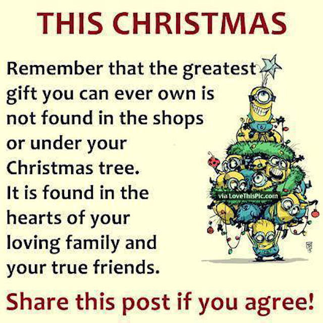 Family And Friends Quotes Inspiration Christmas Minion Quote About Family And Friends Pictures Photos