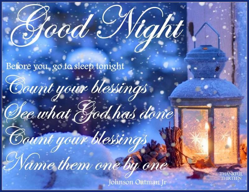 Winter Goodnight Blessings Quote Pictures Photos And