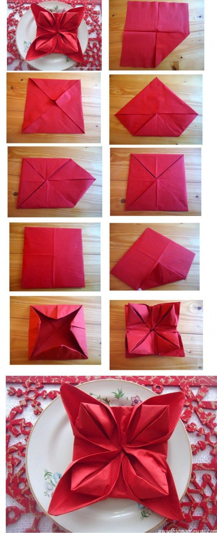 Christmas Napkin Folding Pictures Photos And Images For Facebook Tumblr Pinterest And Twitter