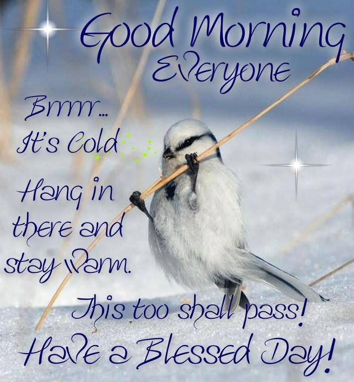 Good Morning Vintage Quotes : Good morning its cold out pictures photos and images for