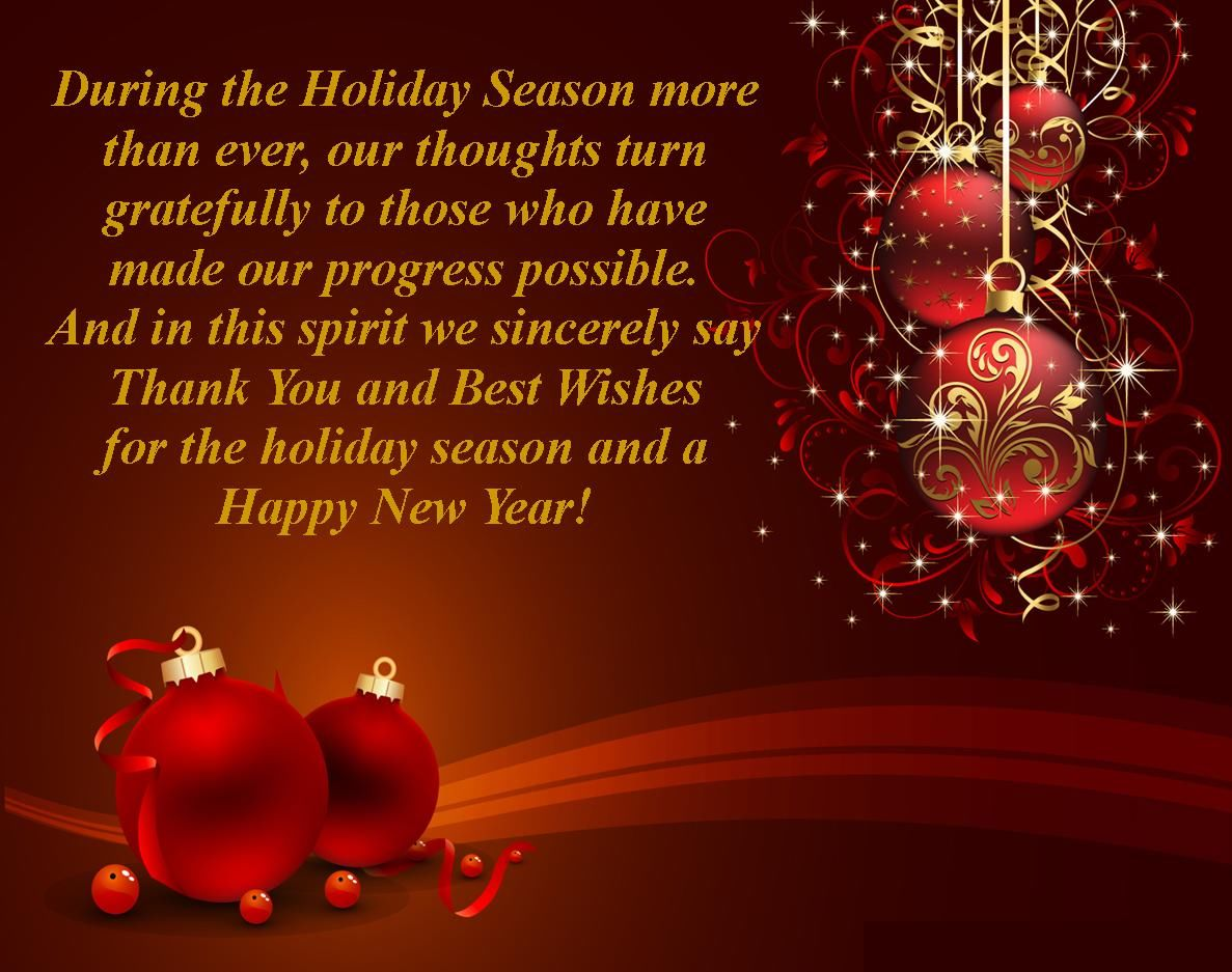 best wishes for the holiday season and a happy new year
