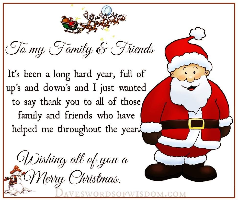 Christmas Quote To My Family And Friends Pictures, Photos, and ...