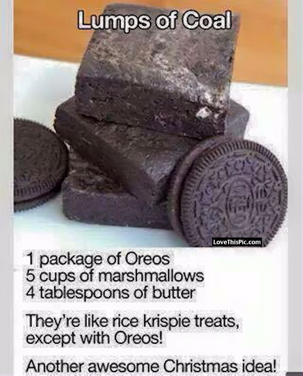 Lumps Of Coal Oreo Recipe Pictures Photos And Images For Facebook