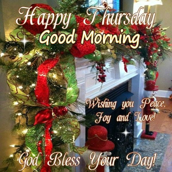 Christmas Good Morning Quotes: Happy Thursday Good Morning Christmas Blessings Pictures