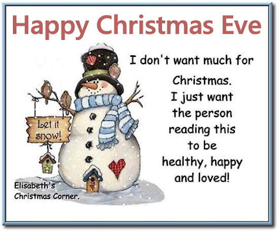 Gentil Cute Christmas Eve Quote