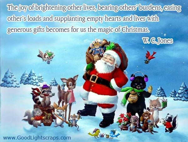 Awesome Magic Of Christmas Quote On Image
