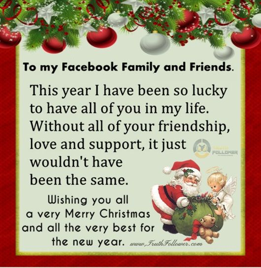Merry Christmas And Happy New Year To My Facebook Family And ...