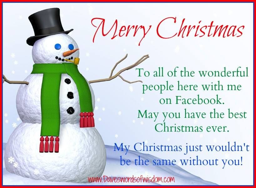 Merry Christmas To All The Wonderful People Here On Facebook ...