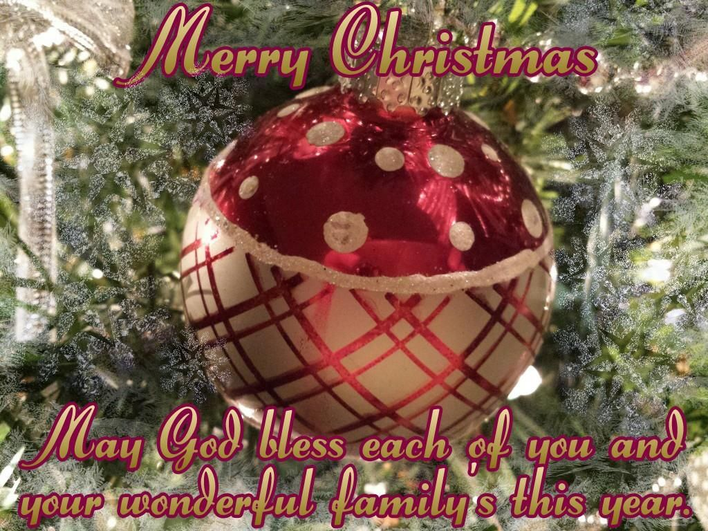 merry christmas may god bless all of you